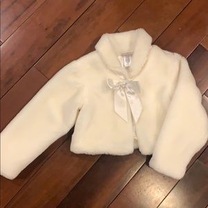 Girls faux fur jacket bolero shawl for holidays